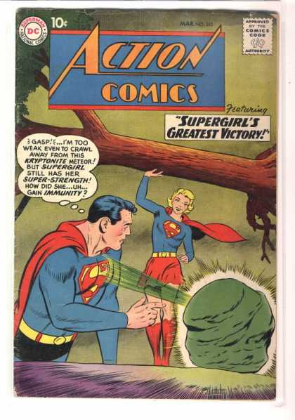 Action Comics 262 - Tree - Kryptonite - Superman - Approved By The Comics Code - Superwoman - Curt Swan