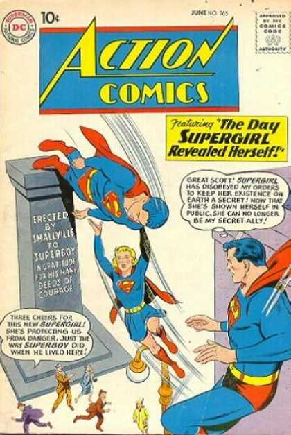 Action Comics 265 - Supergirl - Superman - Superboy - Superwoman - The Day Supergirl Revealed Herself - Curt Swan