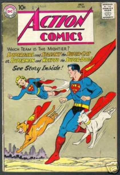 Action Comics 266 - Superman - Supergirl - Krypto - City - Super-cat - Curt Swan
