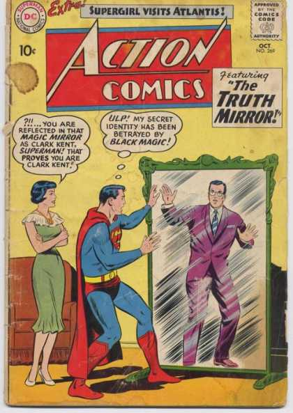 Action Comics 269 - Clark Kent - Superman - Mirror - Lois Lane - Secret Identity - Curt Swan