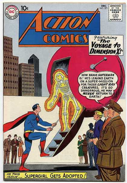 Action Comics 271 - Superman - Spaceship - Light Ray Creature - Dimension X - The Voyage To Dimension X - Curt Swan