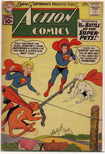 Action Comics 277 - Superman - Krypto - Supergirl - Streaky - Chain - Curt Swan