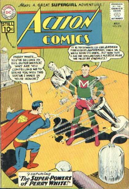 Action Comics 278 - Superman - Perry White - Master Man - Statue - Super Heroes - Curt Swan