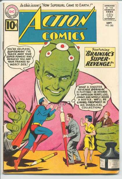 Action Comics 280 - Brainiac - Superman - Lois Lane - Perry White - Jimmy Olsen - Curt Swan