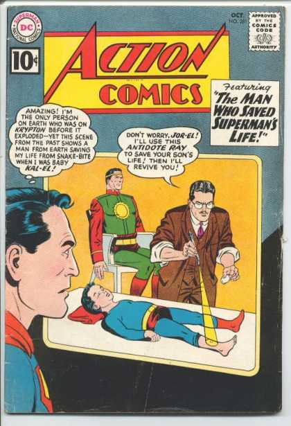 Action Comics 281 - Superman - Jor-el - Kal-el - Kid - Doctor - Curt Swan, Sheldon Moldoff