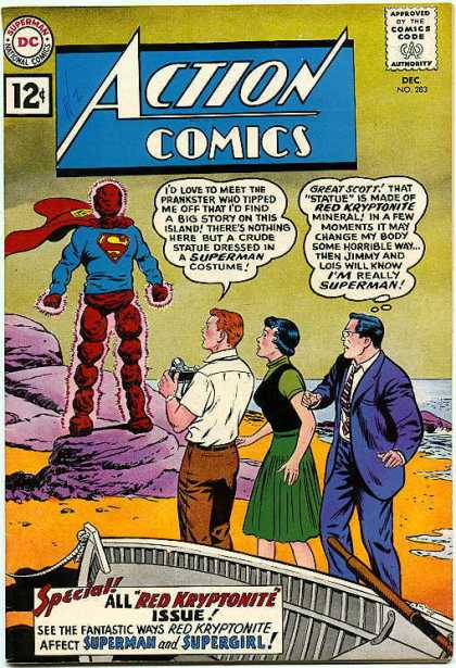 Action Comics 283 - Superman - Jimmy Olsen - Lois Lane - 12 Cents - Gren Dress - Curt Swan