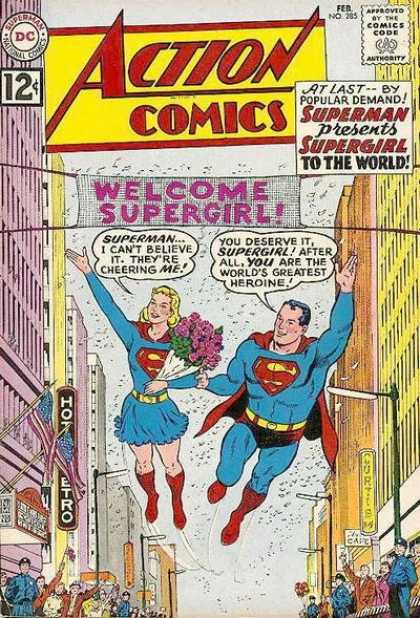 Action Comics 285 - Supergirl - Superman - Welcome - City - Parade - Curt Swan