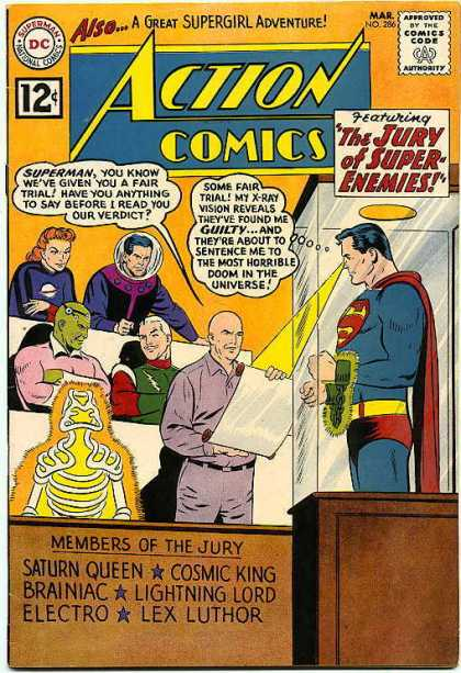 Action Comics 286 - Superman - Brainiac - Electro - Lex Luthor - Curt Swan, Sheldon Moldoff