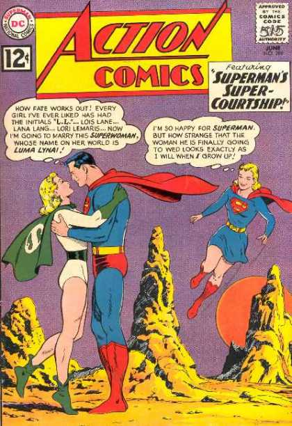 Action Comics 289 - Supergirl - Space - Luma Lyna - Luma Lynai - Superman - Curt Swan