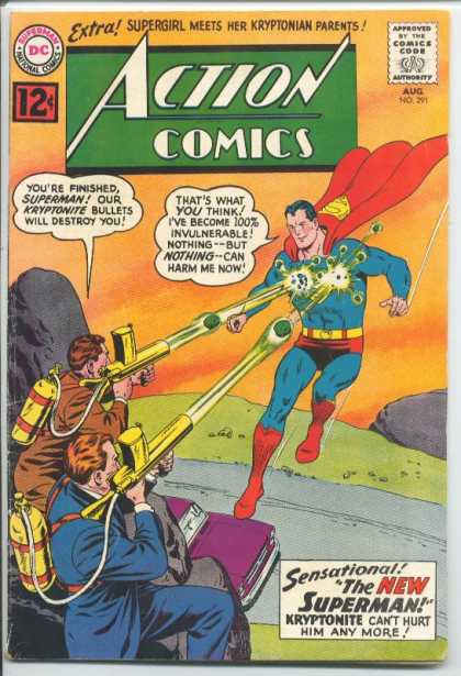Action Comics 291 - Superman - Kryptonite - Supergirl - Gun - Dc - Curt Swan