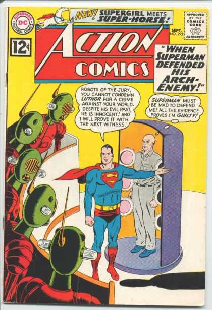 Action Comics 292 - Superman - Robots - Lex Luthor - Curt Swan