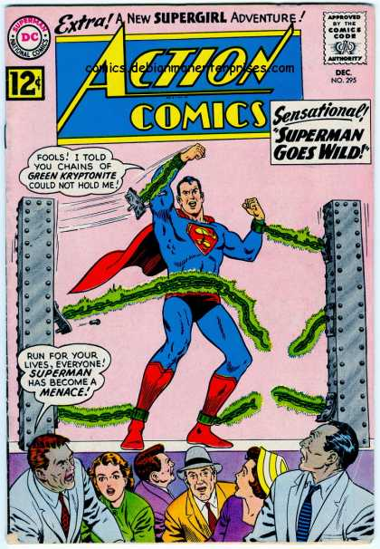 Action Comics 295 - Superman - Chains - Kryptonite - Menace - Wild - Curt Swan