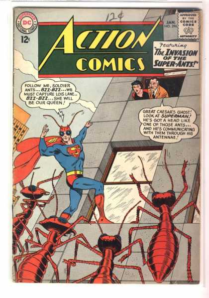 Action Comics 296 - Ants - Superman - Lois Lane - Perry White - Bugs - Curt Swan