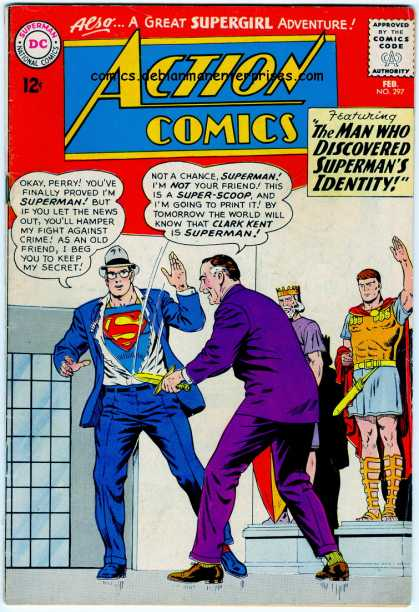 Action Comics 297 - Superman - Hat - Perry White - Knife - Suit - Curt Swan