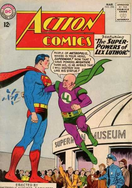 Action Comics 298 - Museum - Lex Luthor - Statue - Super-powers - Superman - Curt Swan, Sheldon Moldoff