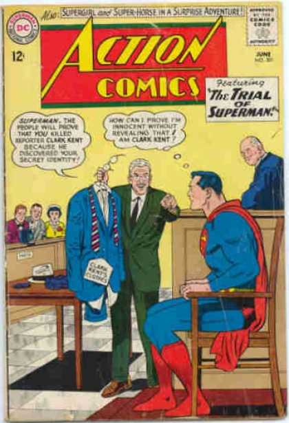 Action Comics 301 - Trial - Judge - Superman - Chair - Jury - Curt Swan