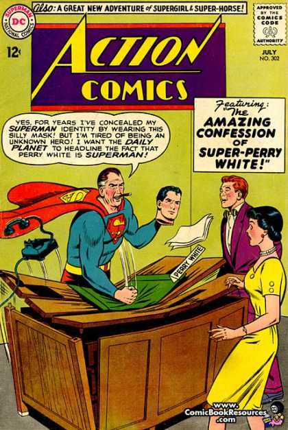 Action Comics 302 - Superman - Lois Lane - Perry White - Perry White Is Superman - Breaking A Desk - Curt Swan, Sheldon Moldoff