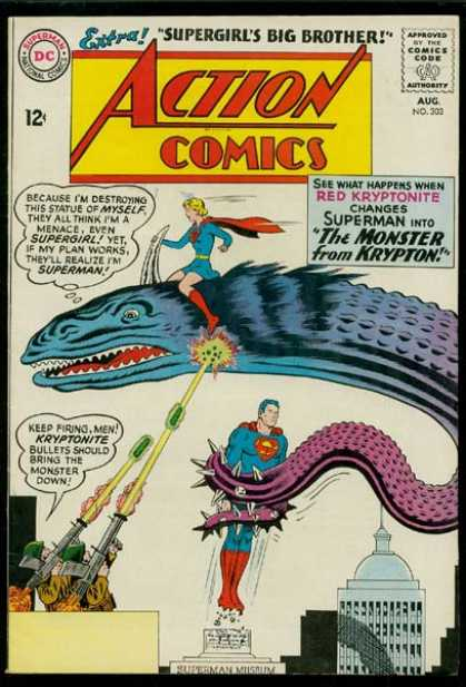 Action Comics 303 - Superman - Supergirl - Supergirl To The Rescue - Superman Saves Himself - Superman Is His Own Worst Enemy - Curt Swan