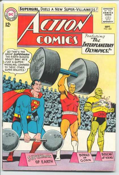 Action Comics 304 - Borko - Boscar - Olympics - Weight - Superman - Curt Swan, Sheldon Moldoff