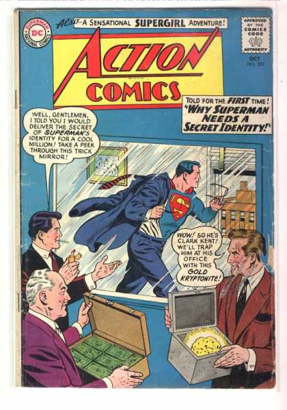Action Comics 305 - Superman - Money - Kryptonite - Gold Kryptonite - Glass - Curt Swan