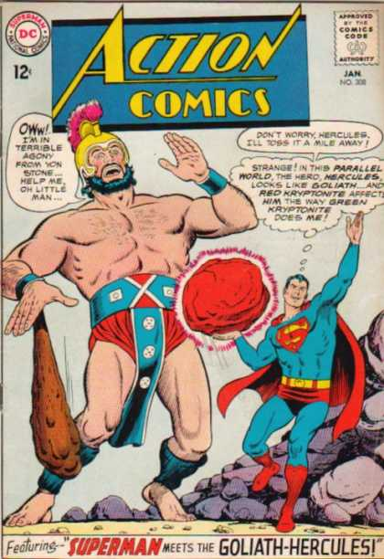 Action Comics 308 - Superman - Goliath - Club - Red Kryptonite - Curt Swan