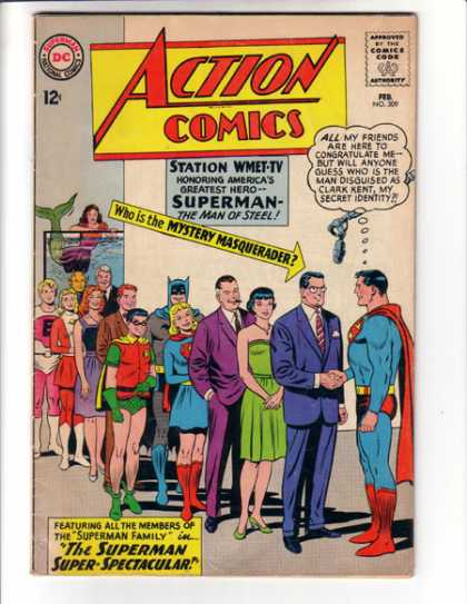 Action Comics 309 - Superman - Robin - Batman - Man Of Steel - Clark Kent - Curt Swan, Sheldon Moldoff