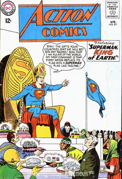 Action Comics 311 - Throne - Flag - King - Superman - Jewelry - Curt Swan, Sheldon Moldoff
