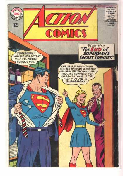 Action Comics 313 - Superman - Perry White - Perry - Supergirl - Changing - Curt Swan