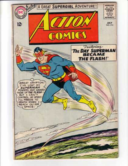 Action Comics 314 - Superman - Flash - Supergirl - The Flash - Dc - Curt Swan