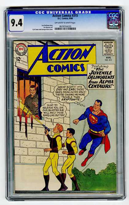 Action Comics 315 - Superman - Juvenile Delinquents - Prison - Melting Jail Bars - Zigi And Zagi - Curt Swan