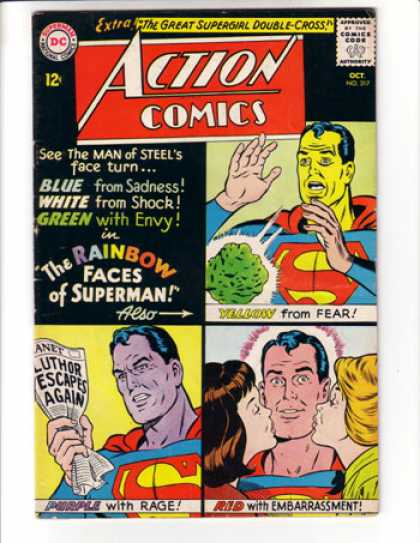 Action Comics 317 - Superman - Kryptonite - Kisses - Rage - Curt Swan