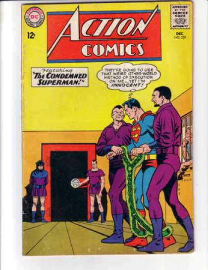 Action Comics 319 - Chains - Prison - Execution - Curt Swan