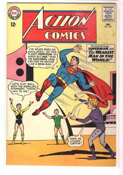 Action Comics 321 - Superman - Children - Kids - Weakling - Curt Swan