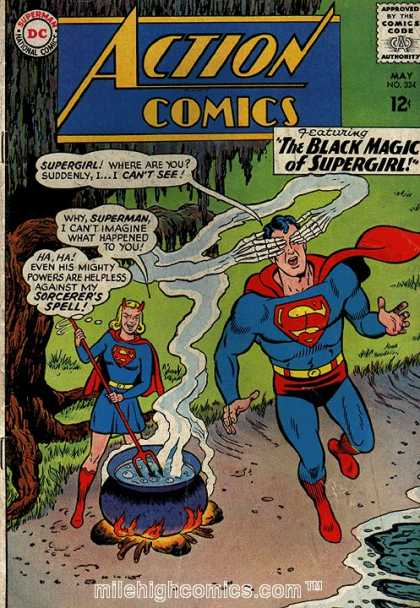 Action Comics 324 - Supergirl - Cauldron - Magic - Blindness - Pitchfork - Curt Swan