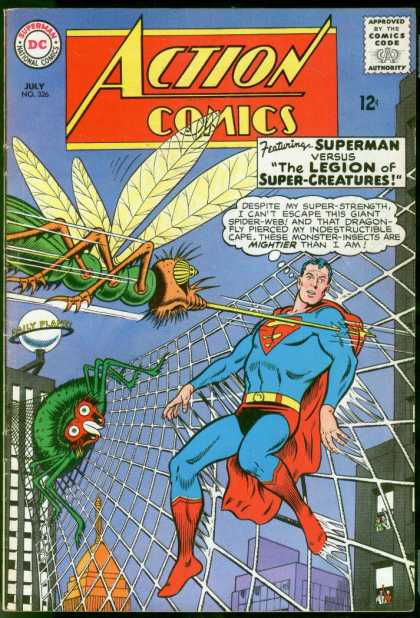 Action Comics 326 - Superman - Daily Planet - Spider - Web - Legion Of Super-creatures - Curt Swan