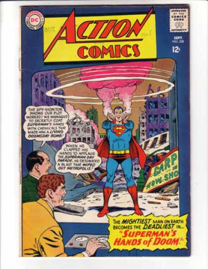Action Comics 328 - Superman - Hands Of Doom - Bomb - Curt Swan
