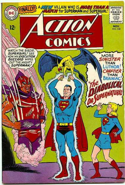 Action Comics 330 - Supergirl - Superman - Birdie - Diabolical - Buzzard - Curt Swan