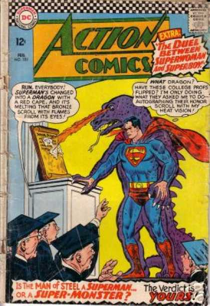 Action Comics 333 - Dragon - Superman - Graduates - Scroll - Yellow - Curt Swan, Sheldon Moldoff