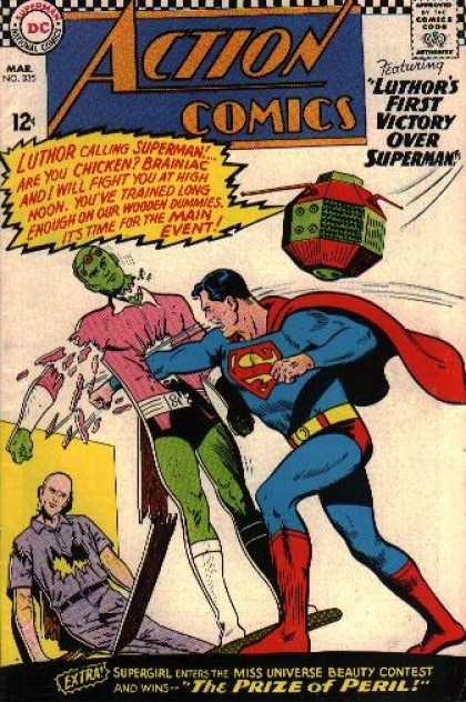 Action Comics 335 - Superman - Lex Luthor - Braniac - Luthor - Brainiac - Curt Swan, Sheldon Moldoff