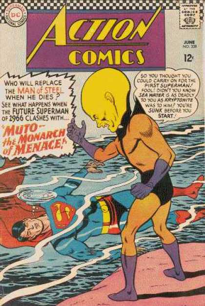 Action Comics 338 - Muto - Monarch Of Menace - Superman - Water - Dc Commics - Curt Swan
