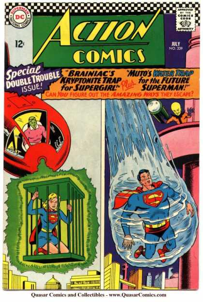 Action Comics 339 - Superman - Supergirl - Water - Brainiac - Kryptonite - Curt Swan