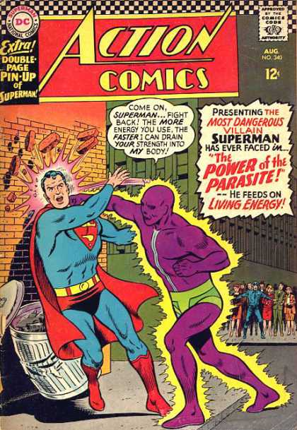 Action Comics 340 - Superman - Parasite - Brick Wall - Curt Swan