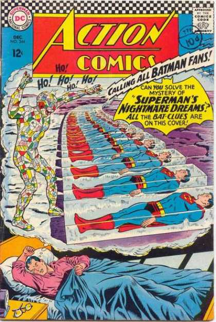Action Comics 344 - Batman - Superman - Nightmare - Dream - Sleep - Curt Swan