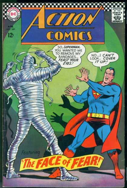 Action Comics 349 - Superman - Mummy - Curt Swan