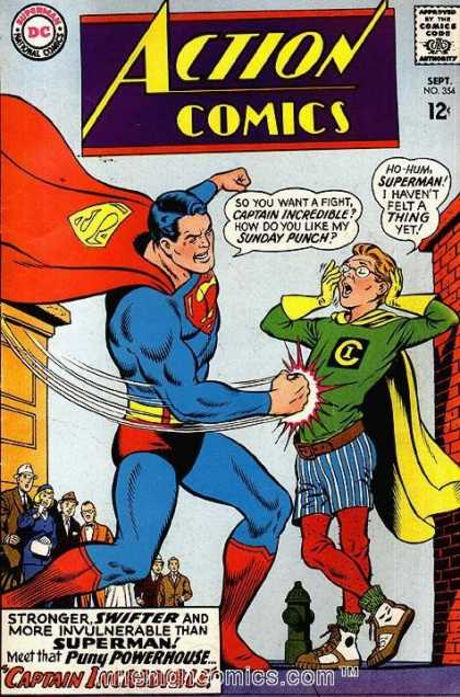 Action Comics 354 - Superman - Punch - National Comics - Approved By Comics Code - Superhero - Curt Swan