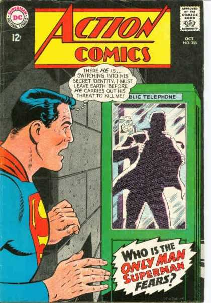Action Comics 355 - Superman - Phone Booth - Heroe - Public Telephone - Who Is The Only Man Superman Fears - Curt Swan
