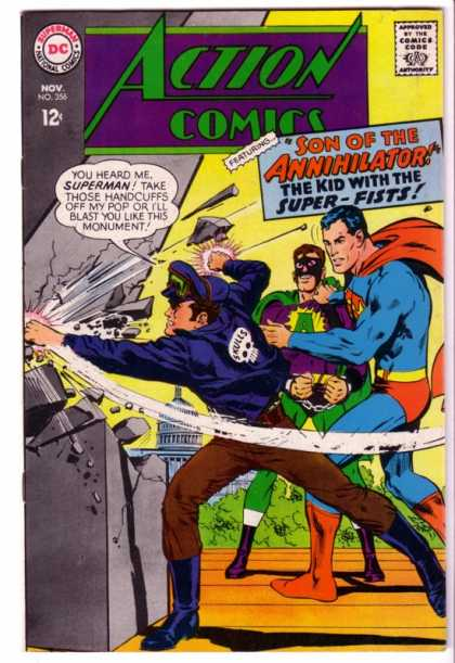 Action Comics 356 - Superman - Skulls - Annihilator - Punch - Son Of The Annihilator - Neal Adams