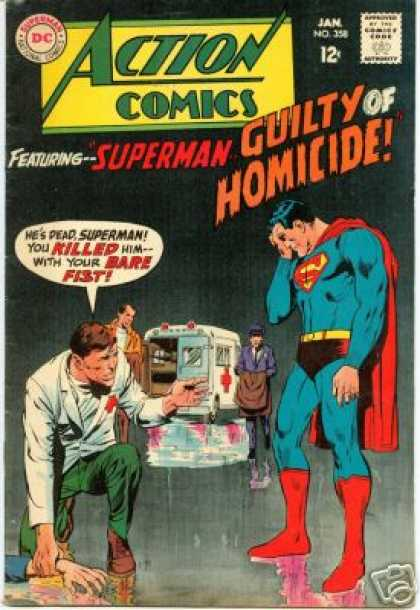 Action Comics 358 - Superman - Ambulance - Guilty - Bare Fist - Doctor - Neal Adams