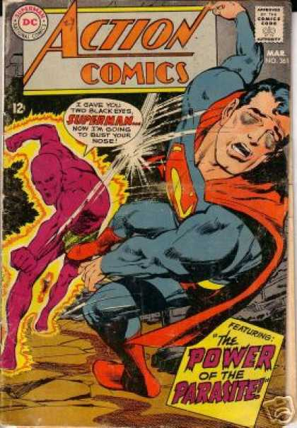 Action Comics 361 - Parasite - Superman - Fight - Neal Adams