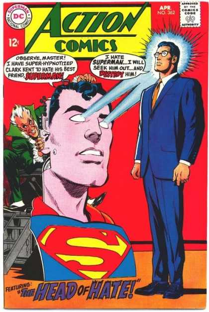 Action Comics 362 - Superman - Robot - Clark Kent - Eye Beams - Glasses - Neal Adams